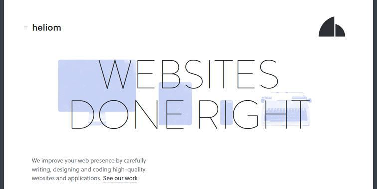 Heliom homepage clean modern responsive web inspiration