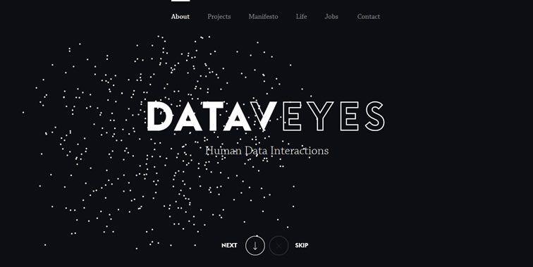 Dataveyes homepage clean modern responsive web inspiration