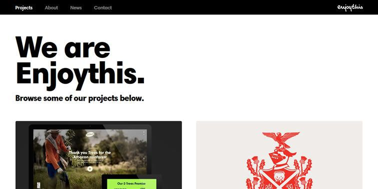 Enjoythis homepage clean modern responsive web inspiration