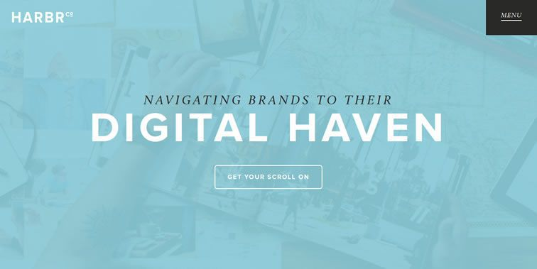 Harbr homepage clean modern responsive web inspiration