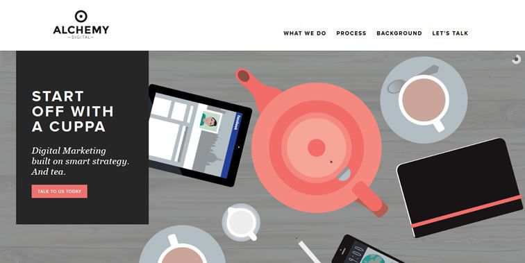 Alchemy homepage clean modern responsive web inspiration