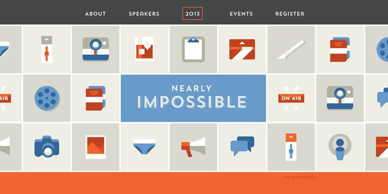 Nearly Impossible homepage clean modern responsive web inspiration