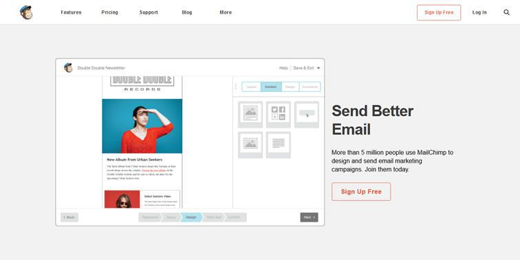 MailChimp homepage clean modern responsive web inspiration