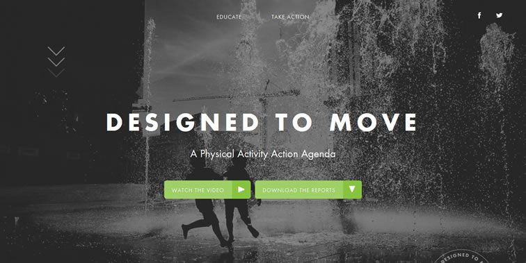 Designed To Move homepage clean modern responsive web inspiration