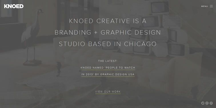 Knoed Creative homepage clean modern responsive web inspiration