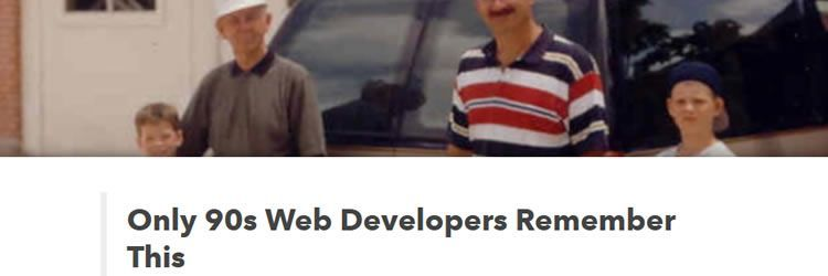 90s web developers would remember weekly news for designers