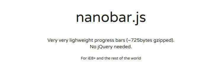 nanobar.js weekly news for designers