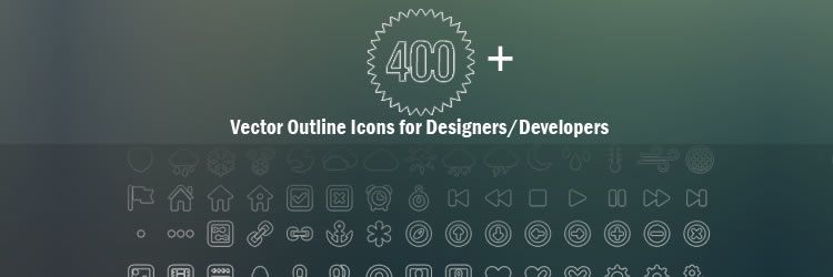 Vector Outline Icon Set for Designers Developers weekly news for designers