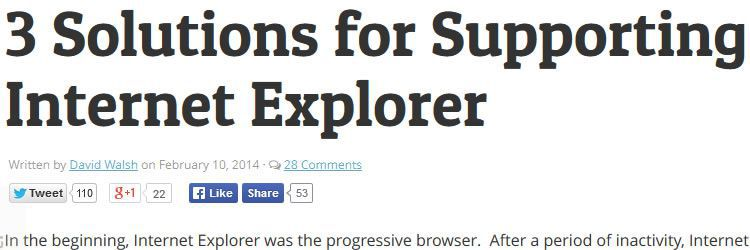 3 solutions for supporting Internet Explorer design news february 2014