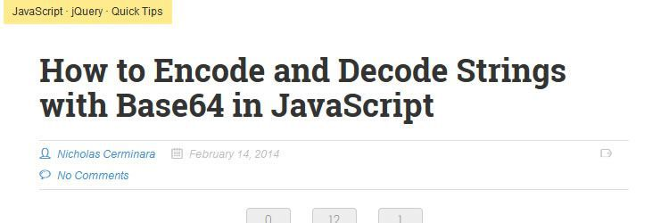 encode/decode strings with Base64 in JS design news february 2014