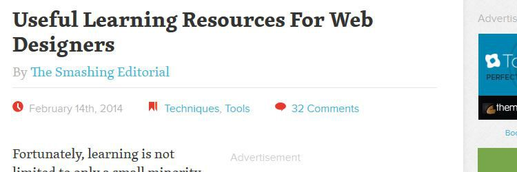 Useful learning resources for web designers design news february 2014