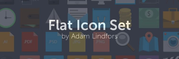 Flat Icon Set design news february 2014