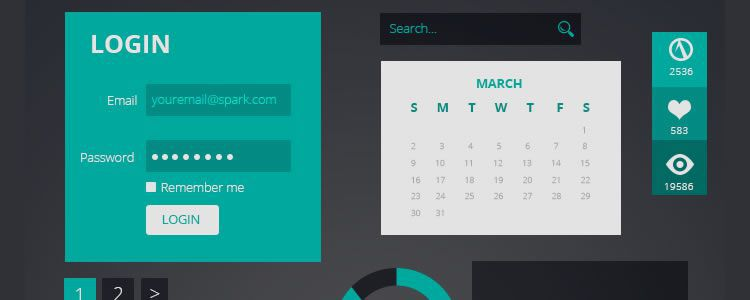 freebies designers web Spark Flat UI Kit