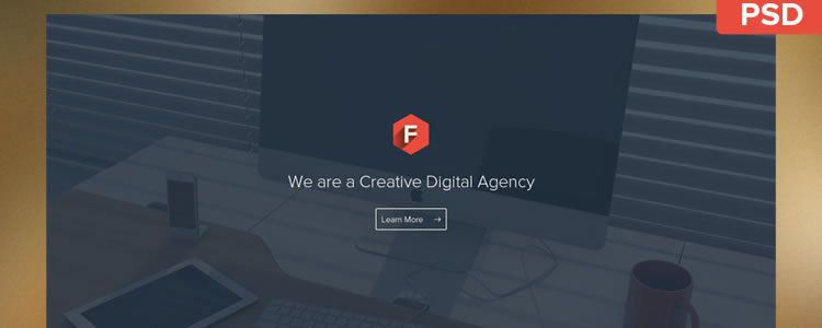 freebies designers web Flatstyle Web Template PSD