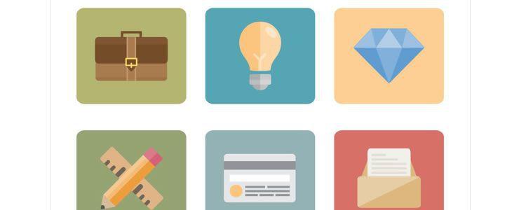 freebies designers web Flat Icon Set for Professionals
