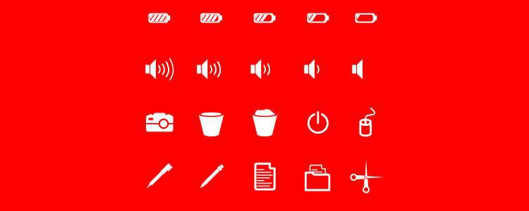 freebies designers web Flat Solid User Interface Icons