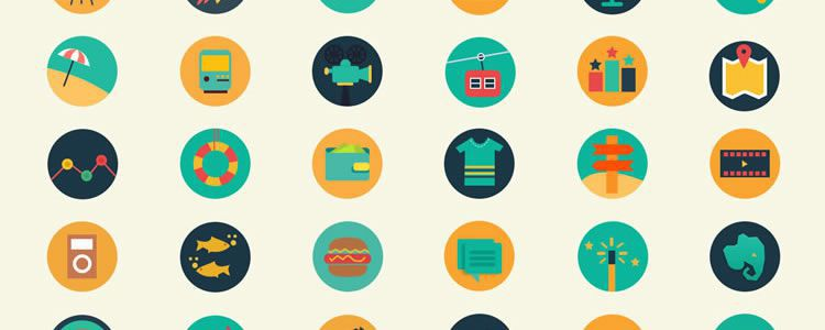 freebies designers web Meroo Flat-Styled Icon Set
