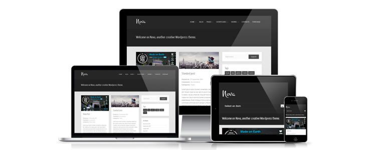 freebies designers web Nova WordPress Theme