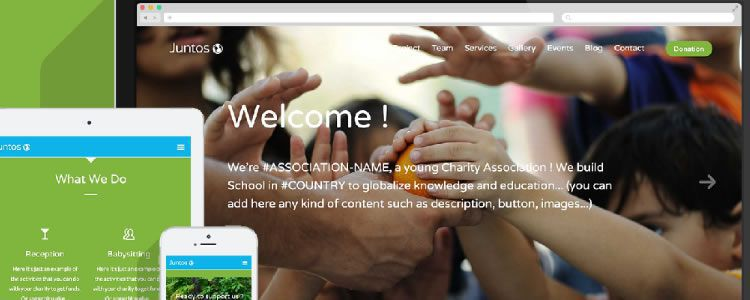freebies designers web Juntos Charity Association Open Source Template