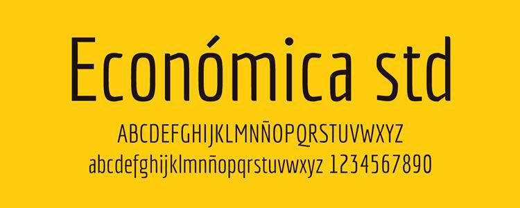 freebies designers web Economica STD free font