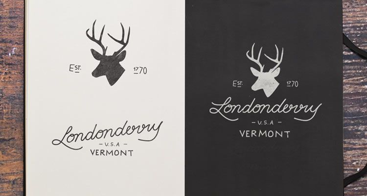 Londonderry Sketch Variations logo design sketch process branding