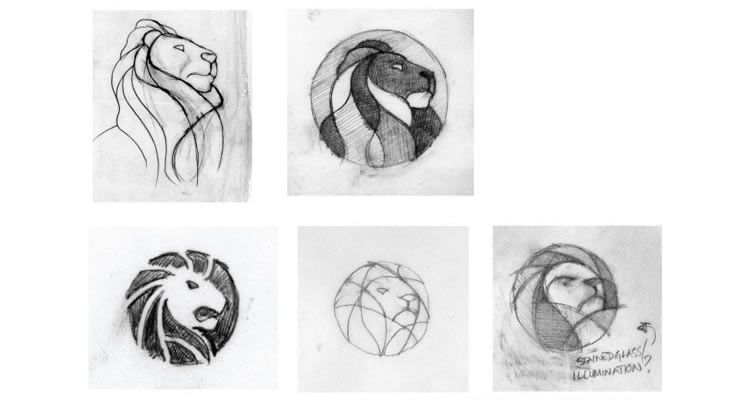 New York Public Library logo design sketch process branding