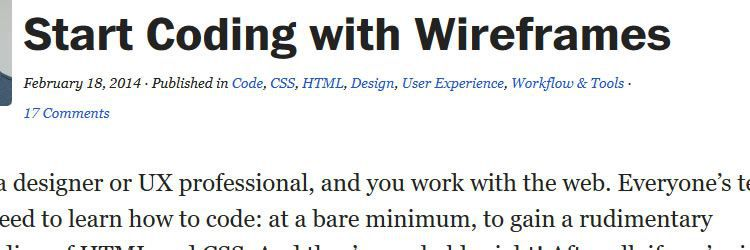 coding with wireframes weekly news for designers