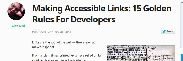making links accessible weekly news for designers