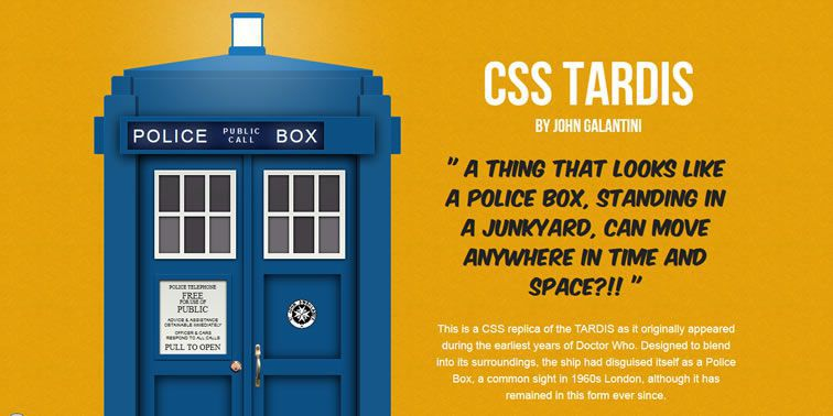 CSS Tardis weekly news for designers