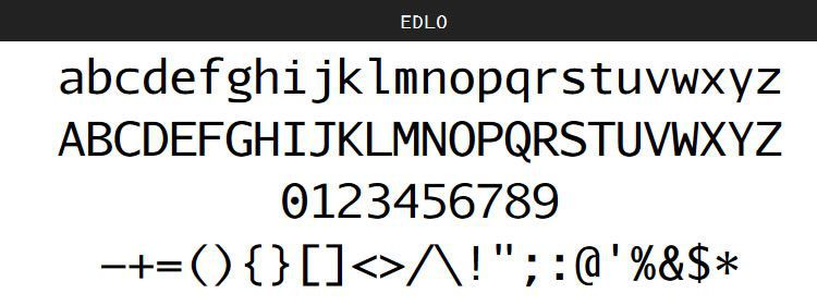 Edlo free programming code fonts