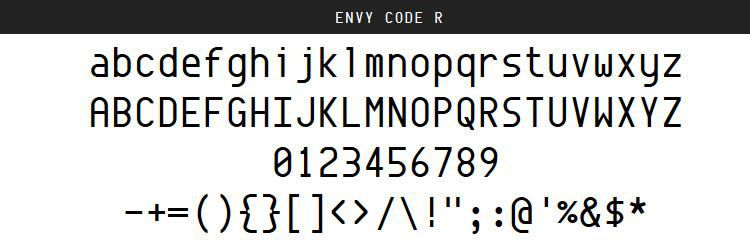 Envy Code Regular Italic Bold free programming code fonts