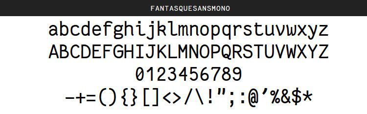 Fantasque Sans Mono Regular Italic Bold free programming code fonts
