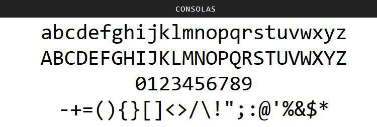 Consolas Mono free programming code fonts