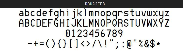 Drucifer Monospace free programming code fonts