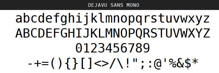 DejaVu Regular Oblique Bold free programming code fonts
