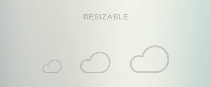 free Outlined Weather Icons Collection can be easily resized
