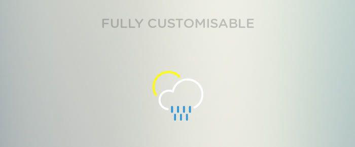 freebie Outlined Weather Icons Collection fully customisable