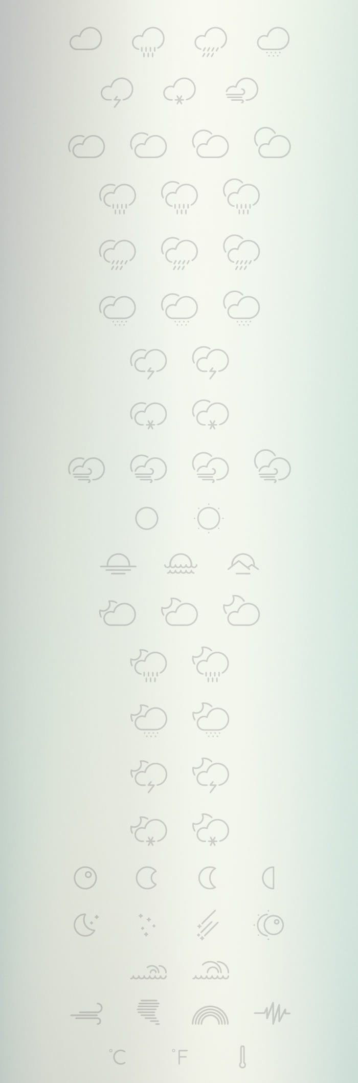 Outlined Weather free Icons Collection Preview