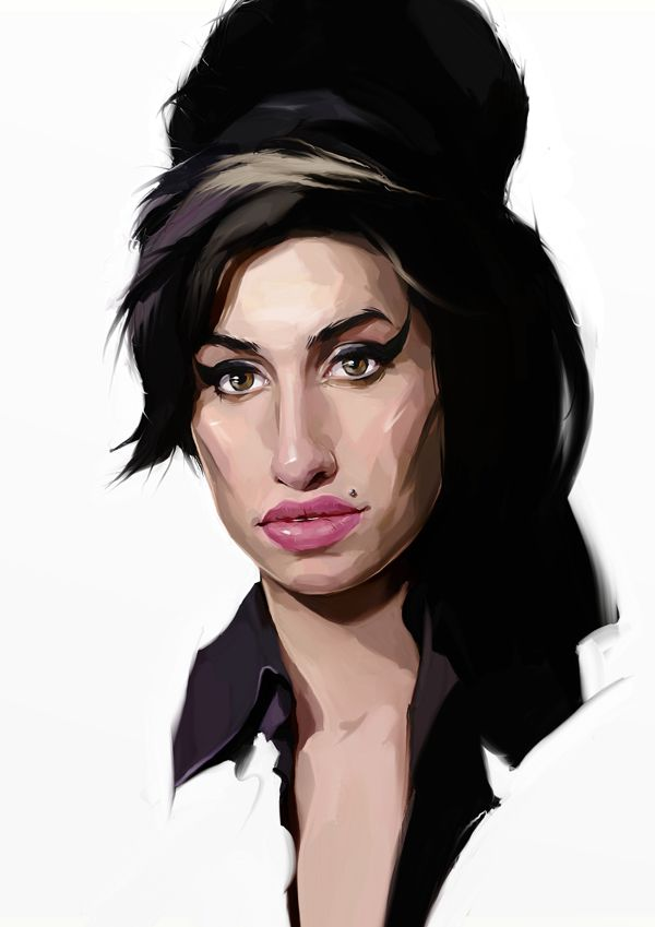 Amy Winehouse carictaure drawing illustration artist