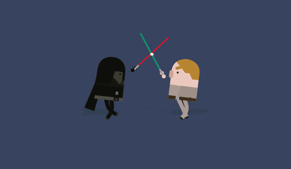 Darth Vader & Luke Star Wars Cinematic Classic Film Character Series
