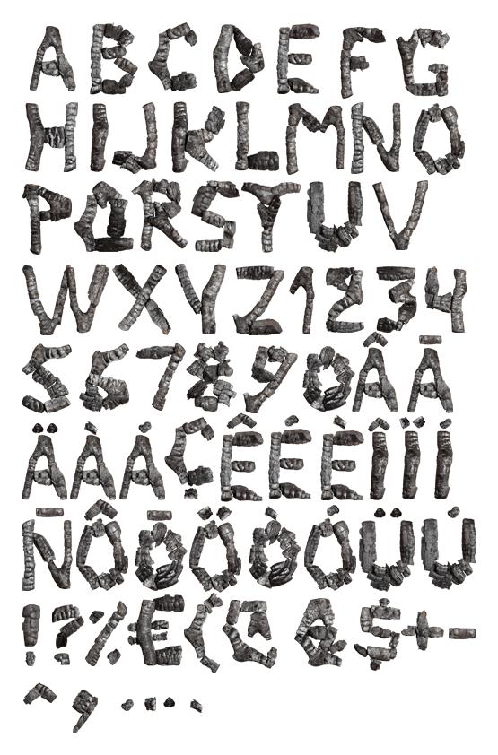 Coal Font handmade