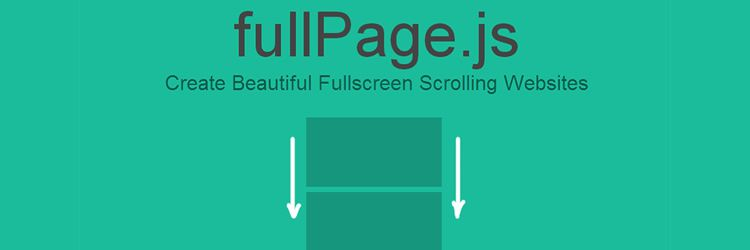 fullPage.js fullscreen scrolling websites jQuery plugin weekly news
