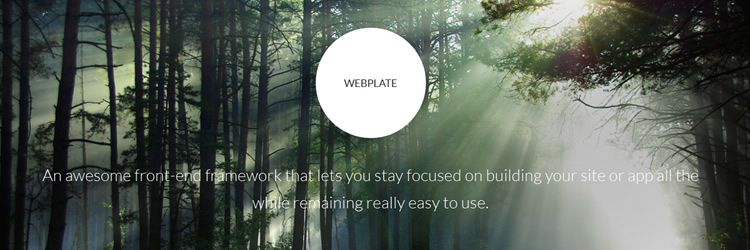 Webplate front-end framework weekly news