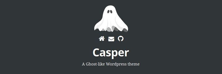 Casper Ghost-like WordPress theme weekly news
