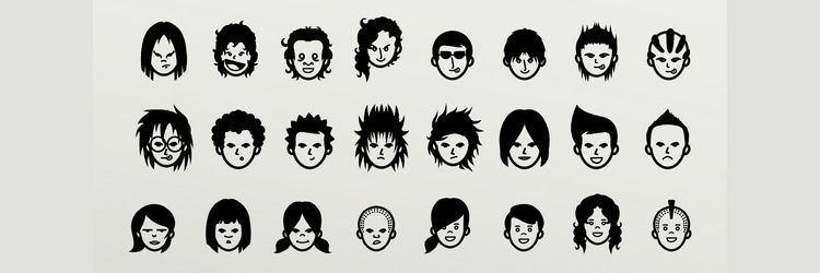 Avatars and Emoticons Vector Set weekly news