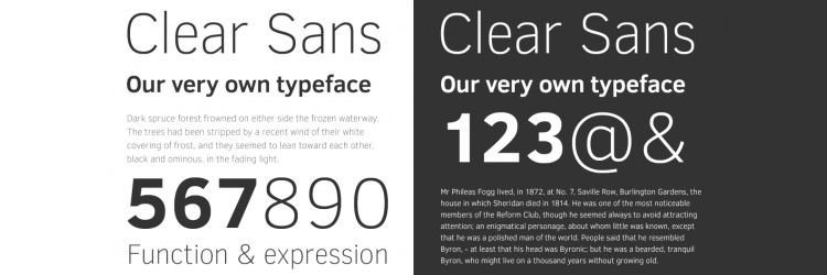 Clear Sans Free Font freebies designer