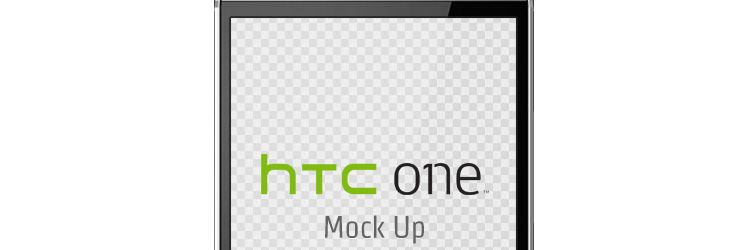 HTC One mockup psd freebies resources for designers