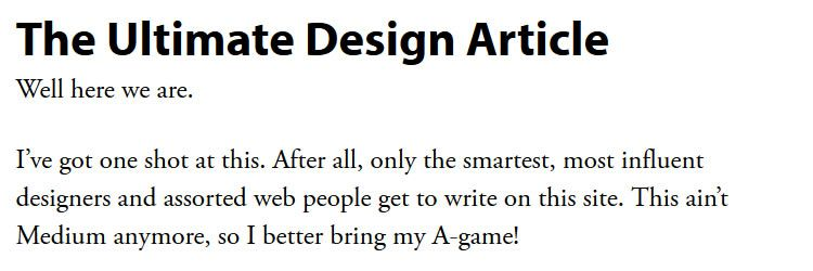 The Ultimate Design Article