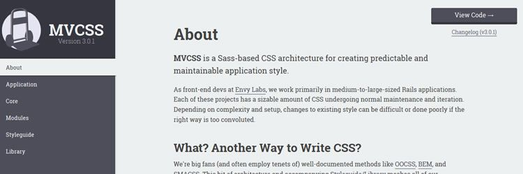 MVCSS Sass-based CSS architecture for creating predictable a maintainable application style