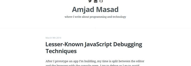 lesser-known JavaScript debugging techniques Design News 18th March 2014